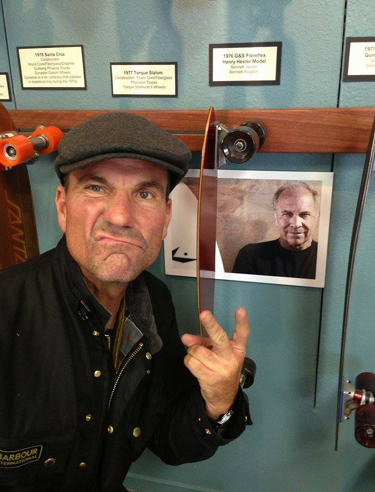 Dave Dubois showing respect to a skateboarding legend  Photo:Selfie