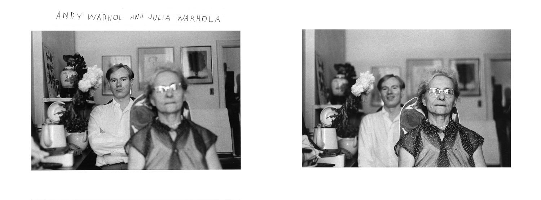 Andy Warhol and his Mother Julia Warhola,  1958