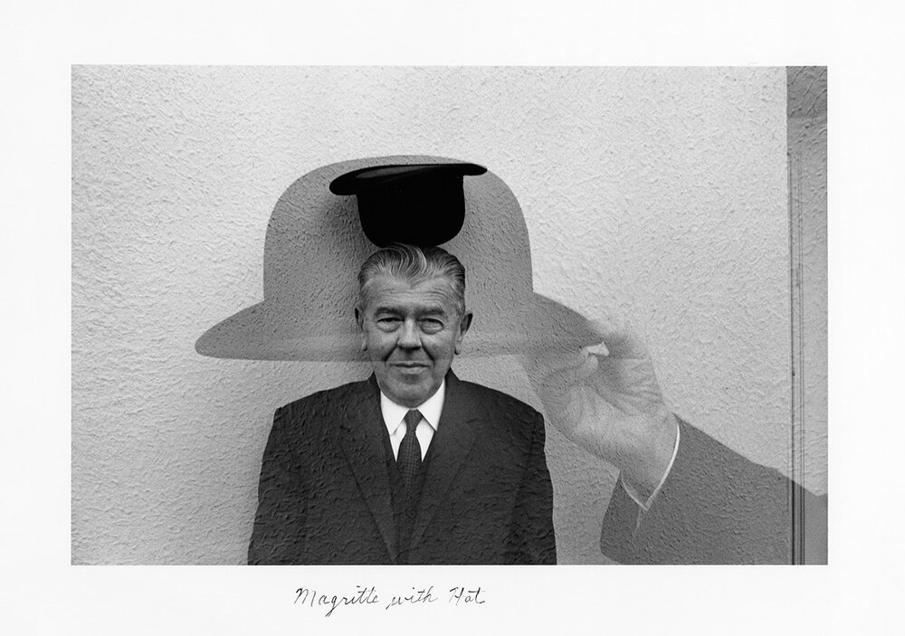 Magritte with Hat,  1965