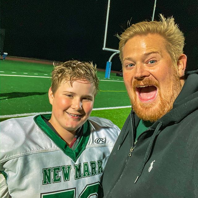 The 8th grade football season is in the books for this guy! He performed his first cut block this evening - the poor other kid fell like a tree - I was so proud. We're super grateful for @joshlorenson being the head coach and a source of constant encouragement.