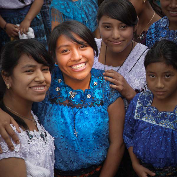 Juana (in middle, turquoise blouse) will begin medical school in January 2017