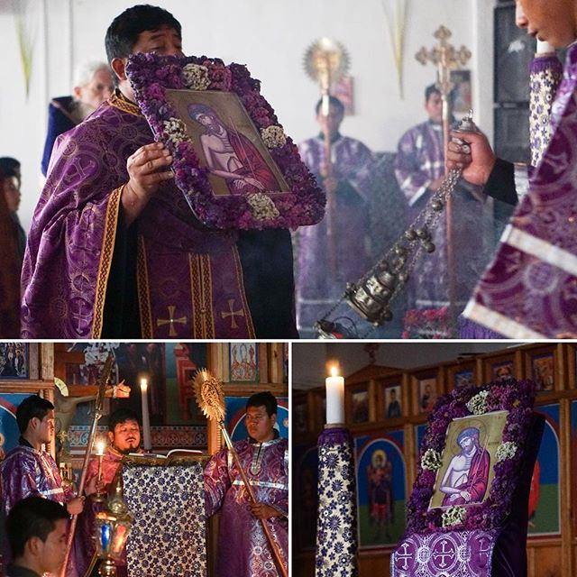 """Holy Week begins at the #Orthodox cathedral in Guatemala. """"Behold the Bridegroom comes!"""""""