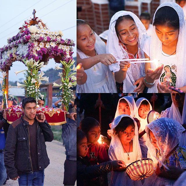 Lamentations service in Guatemala: 20 girls participated as myrrh-bearers!