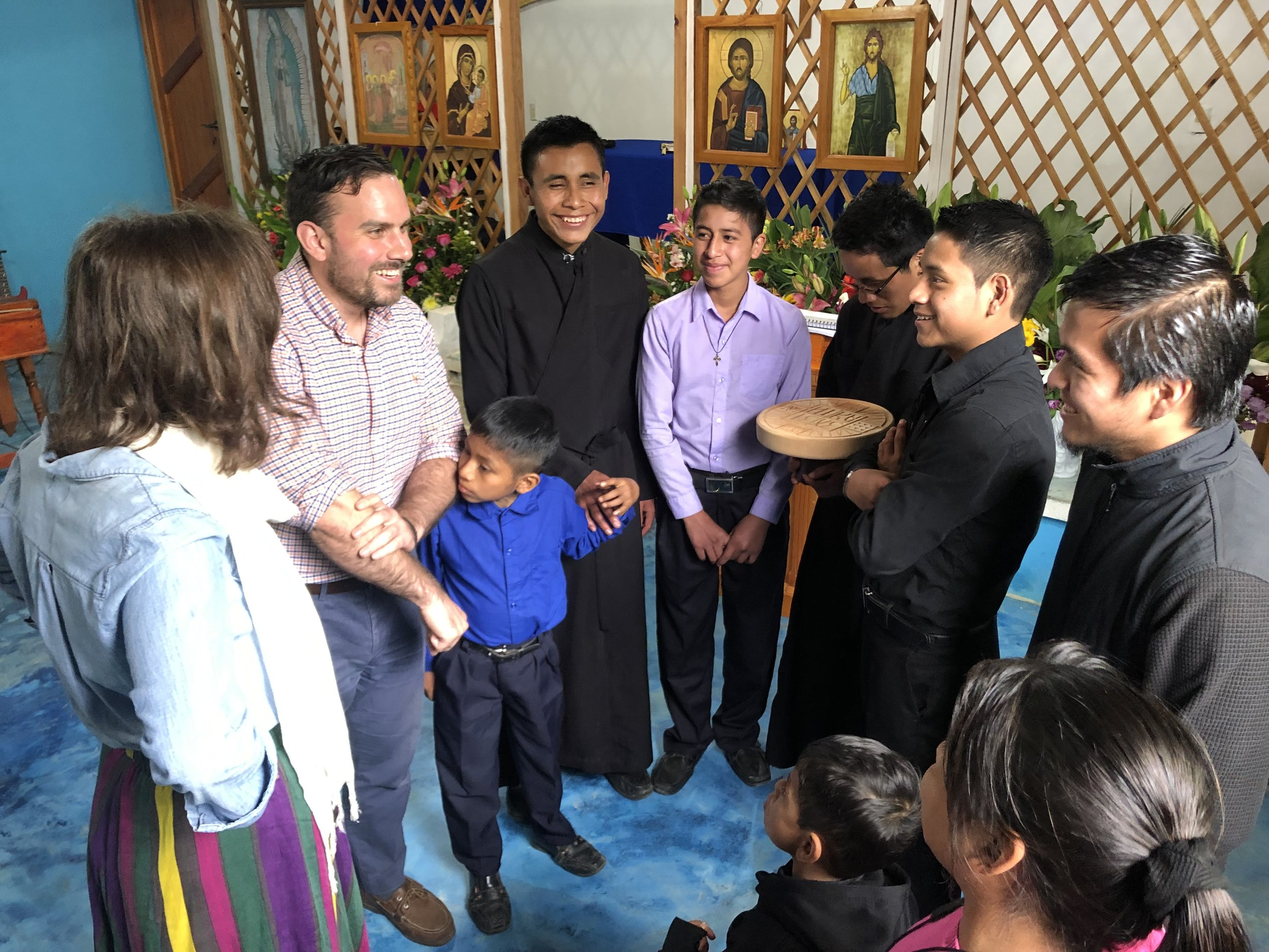 Getting to know the seminarians after Liturgy