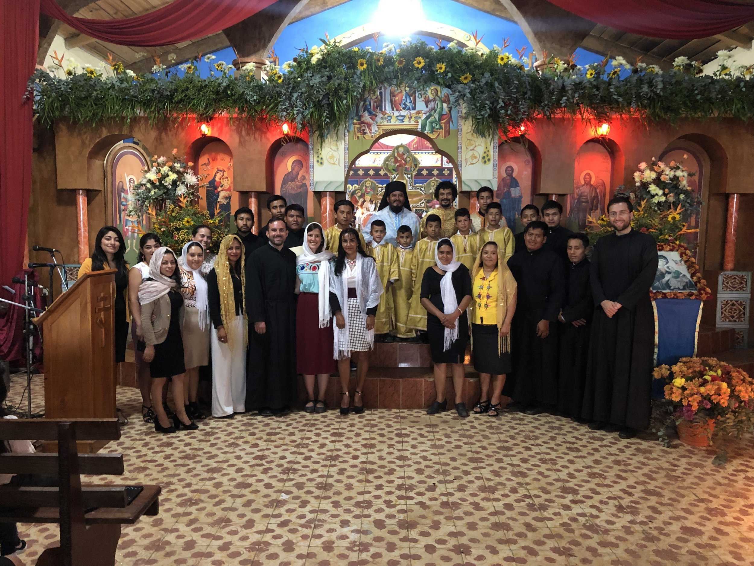 Parish visit to the community of the Most Holy Theotokos of Perpetual Help, where Fr. Alexios serves in Tajumuco. Their feast was celebrated along with many baptisms and chrismations!