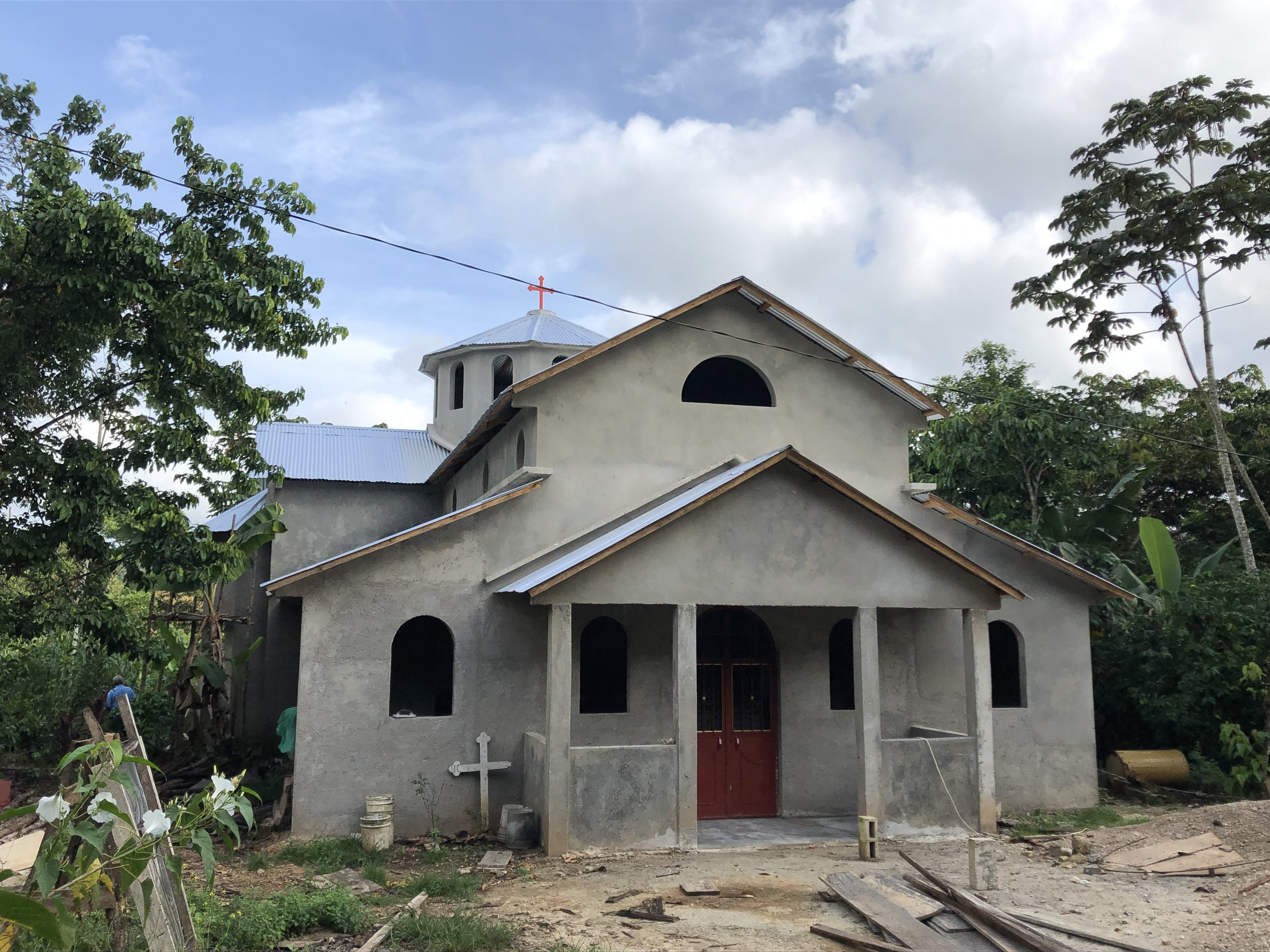 One of the many new Orthodox churches being built, this one is in Santa Rosa in southern Mexico.