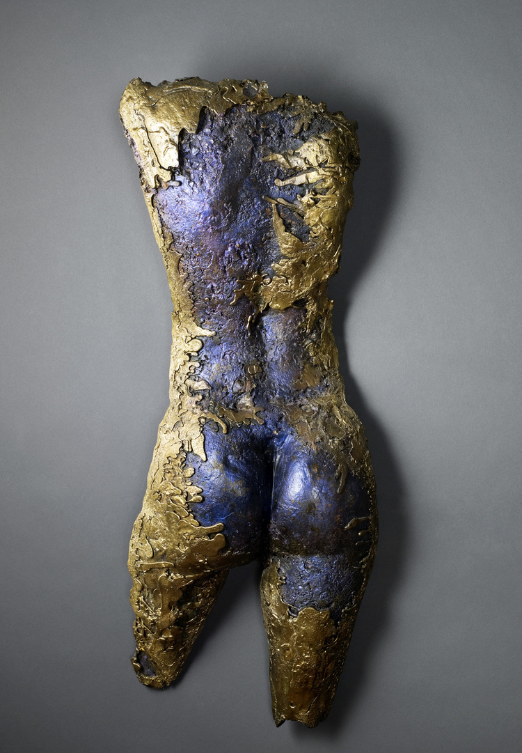 Madonna (rear), 2002   Bronze, 31 x 14 x 8 inches, Private collection