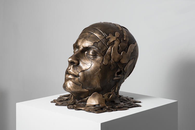 'Poseidon' 2014- sand-cast bronze
