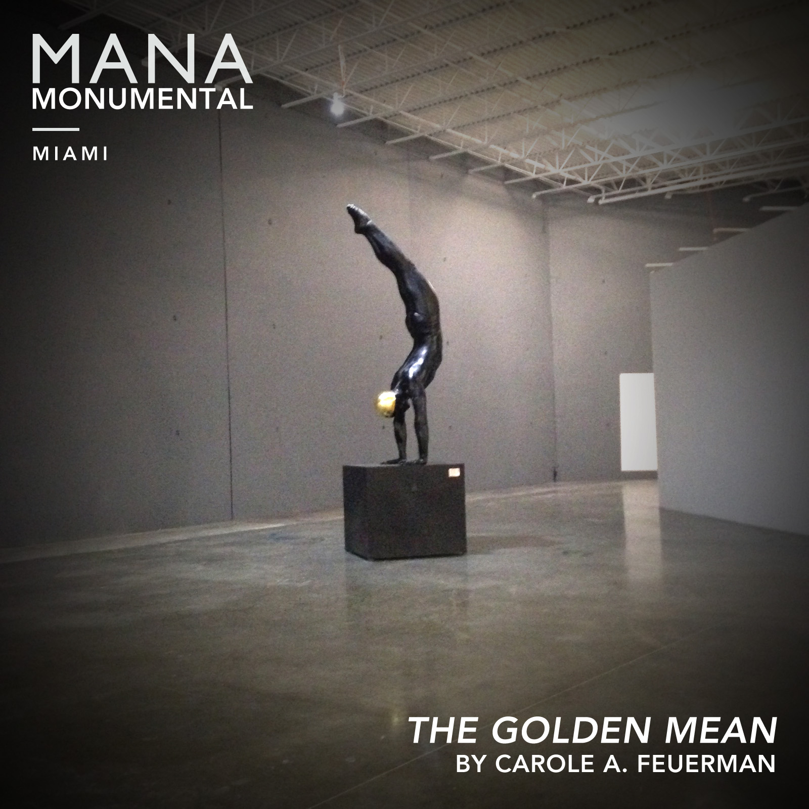 The Golden Mean   greets visitors as they enter  Mana's Wynwood  campus.