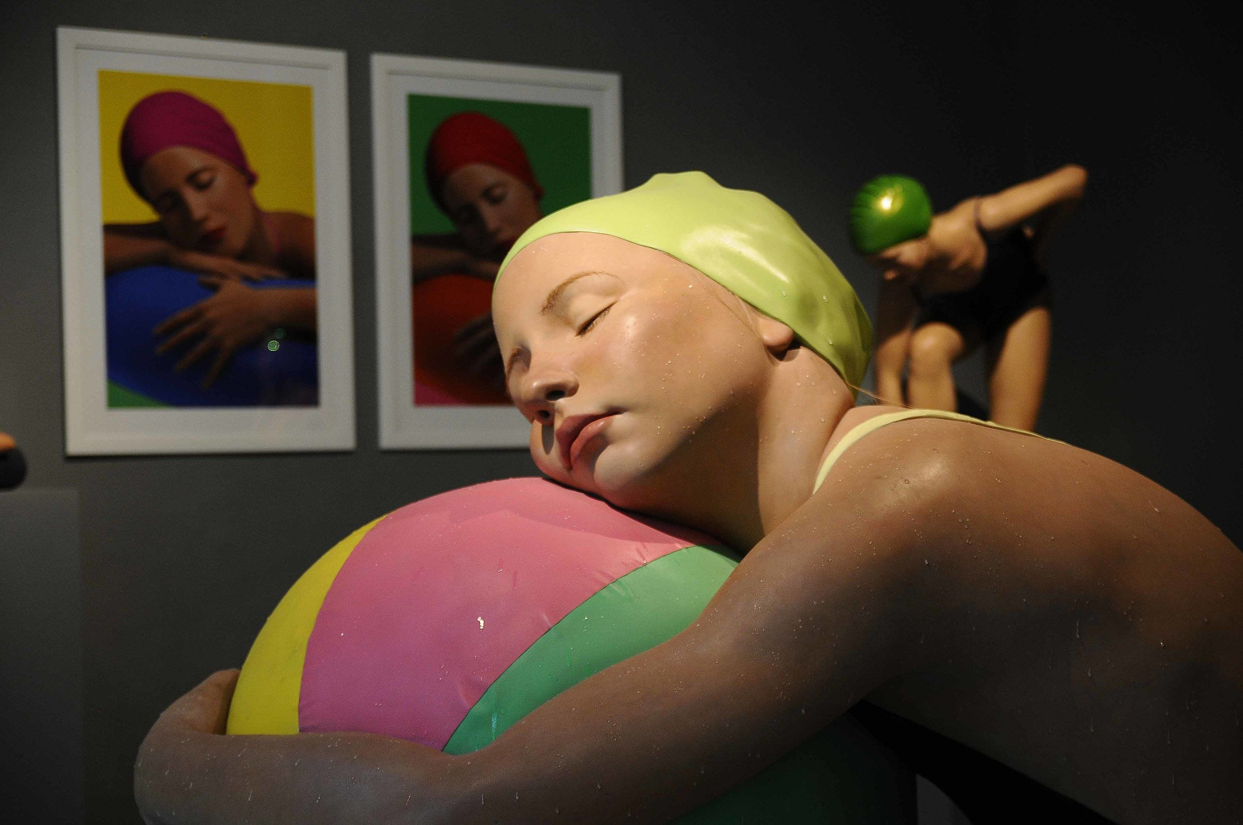 Monumental Brooke with Beach Ball  , 2010. Oil on Resin. 60 x 43 x 45 inches.