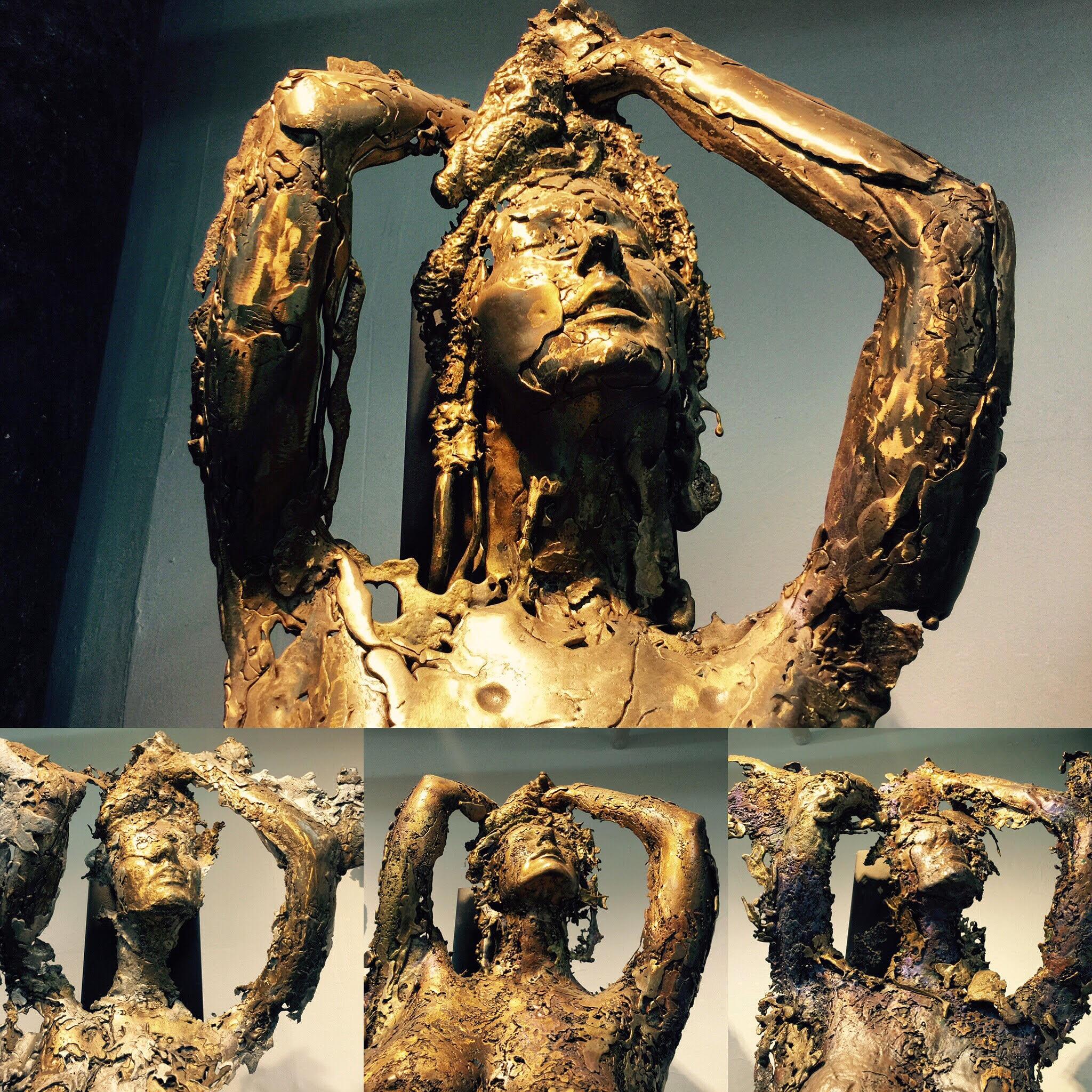 Asia,   1999. Bronze. 83 x 31 x 15 inches.