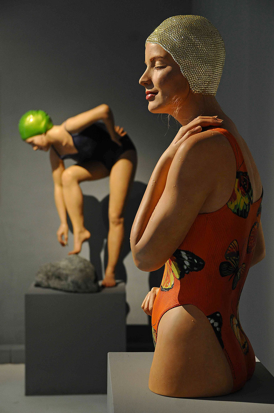 "Capri, 2013, Aria Gallery, Florence, Italy, Oil on Resin, 30"" x 20"" x 11"""