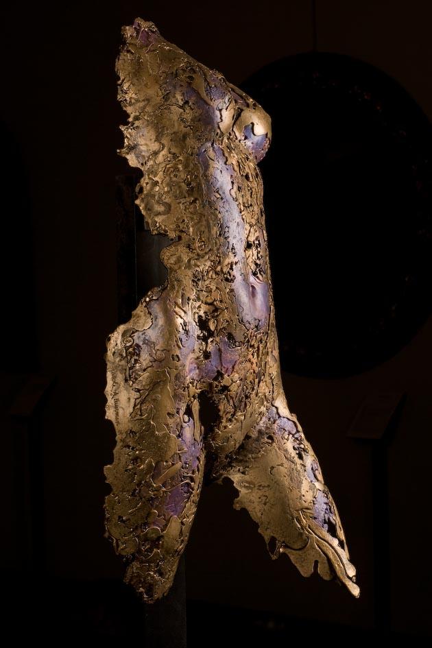 """Venus in Lace, 2003, Bronze, 31"""" x 14"""" x 10""""."""