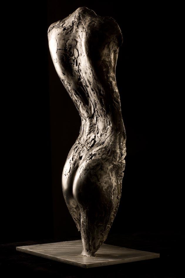 """Silver Venus, Moretti Fine Art, Florence, Italy, 2001, 48 x 14 x 8 """""""