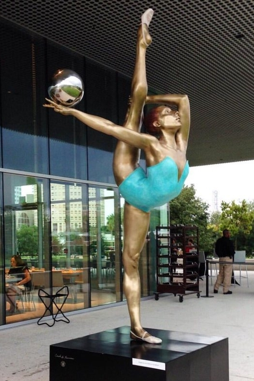 """""""Monumental Dancer"""",  Bronze with Hand Patina, 2016"""