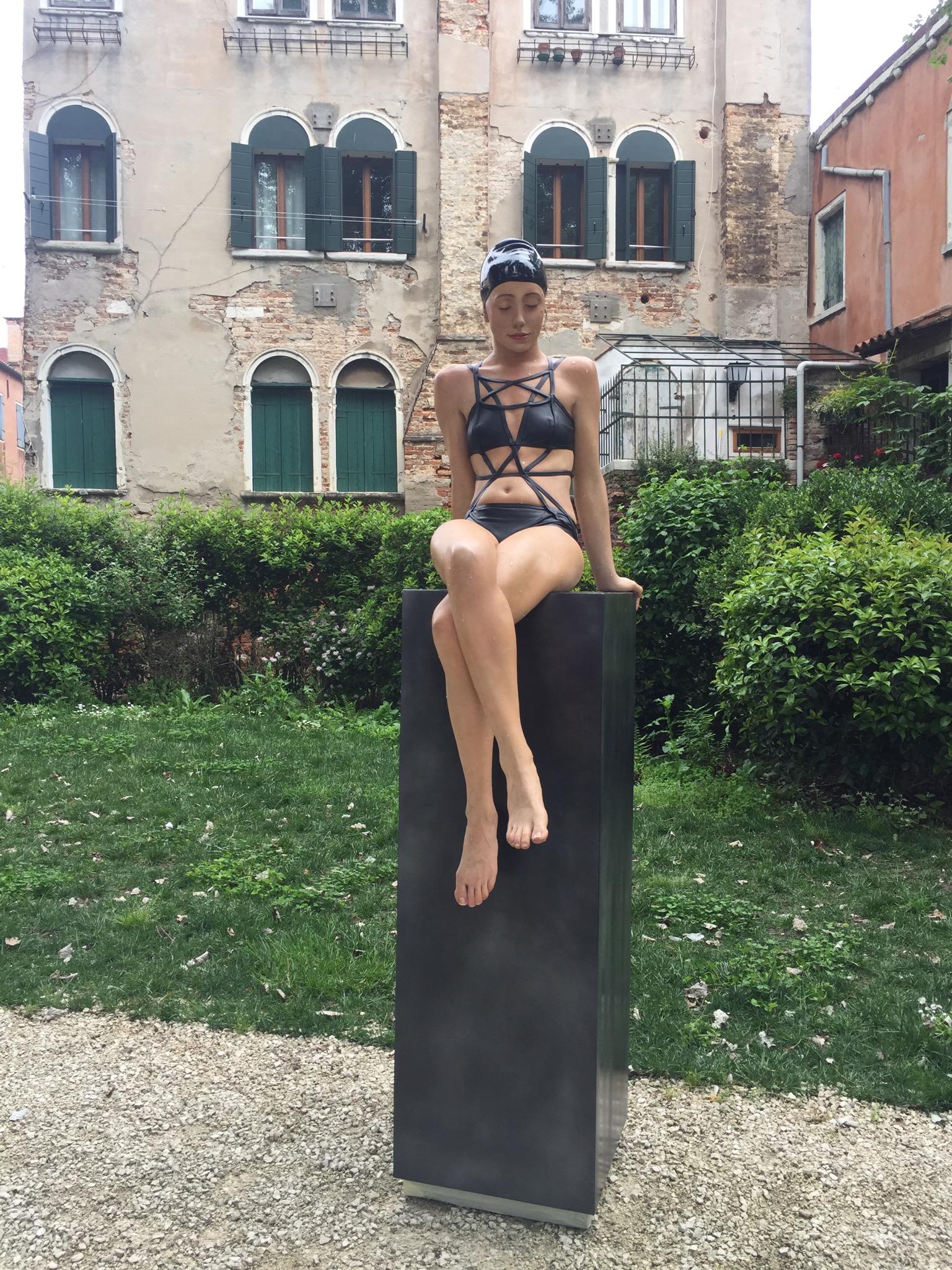 "Kendall Island, Giardini Marineressa, Venice, IT, Lacquer on Resin, 2015 - 2017, 70"" x 21"" x 39"""