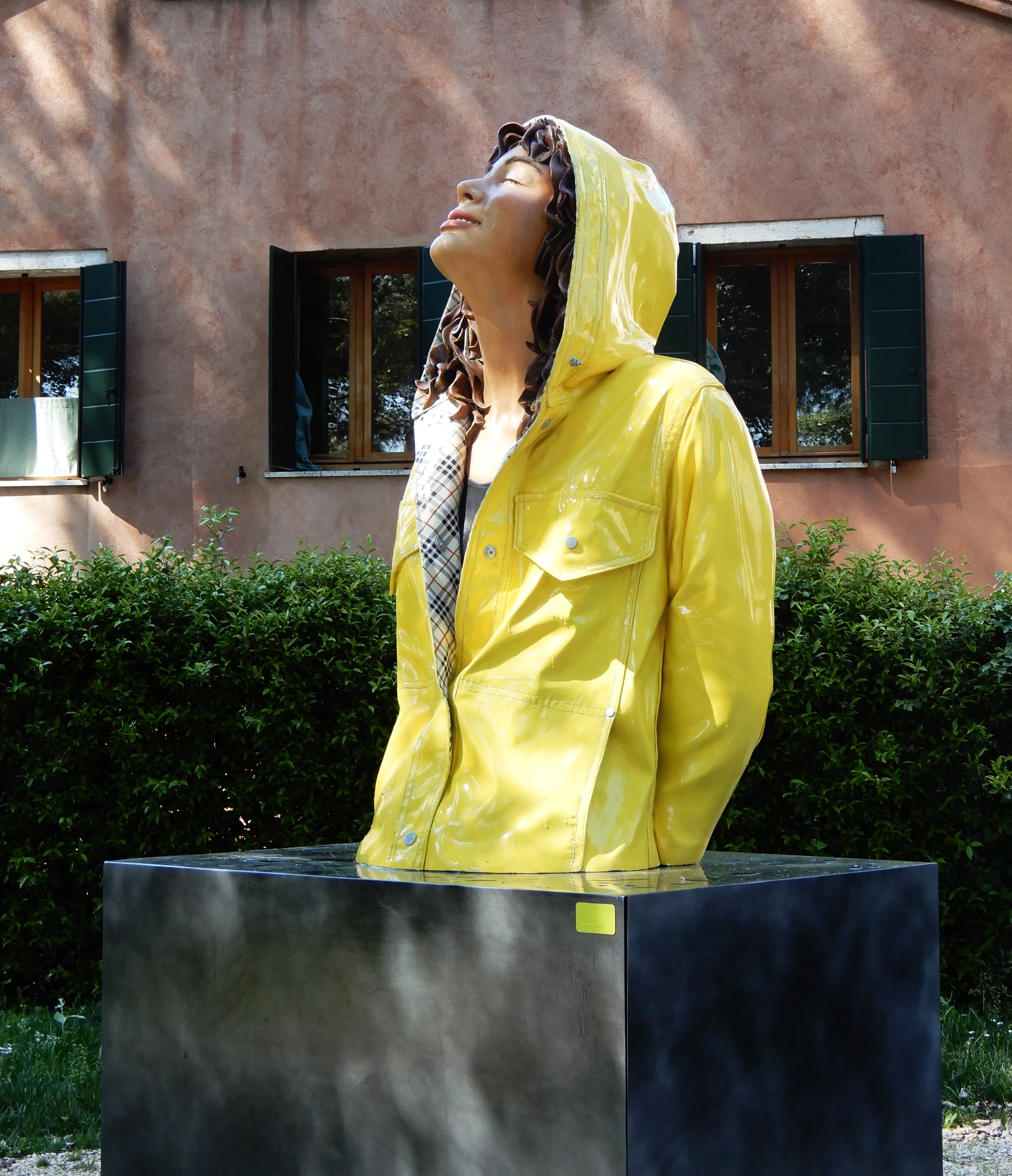 "New York City Slicker, 2013, MANA Art Center, Lacquer on Bronze, 38"" x 28"" x 63"""