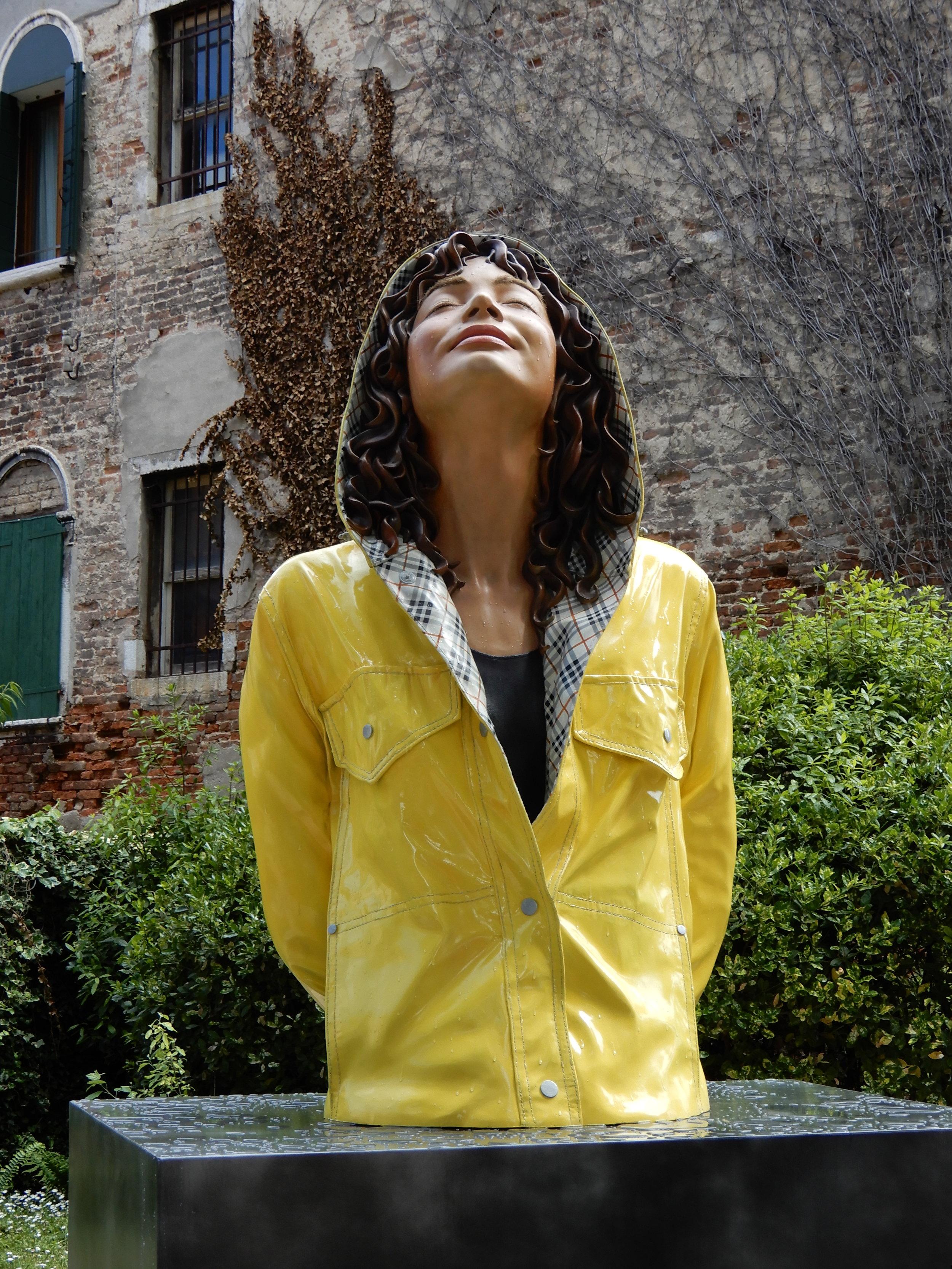 "New York City Slicker, 2013, Giardini Marinaressa, Italy, Lacquer on Bronze, 38"" x 28"" x 63"""