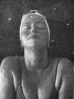 Catalina, 56 H x 42 W, Silk Screen & Diamond Dust on Canvas, 2016