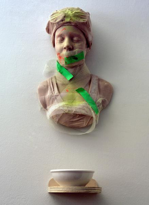 Seen but Not Heard,    sculpture by Carole Feuerman, r  esin and mixed Media.