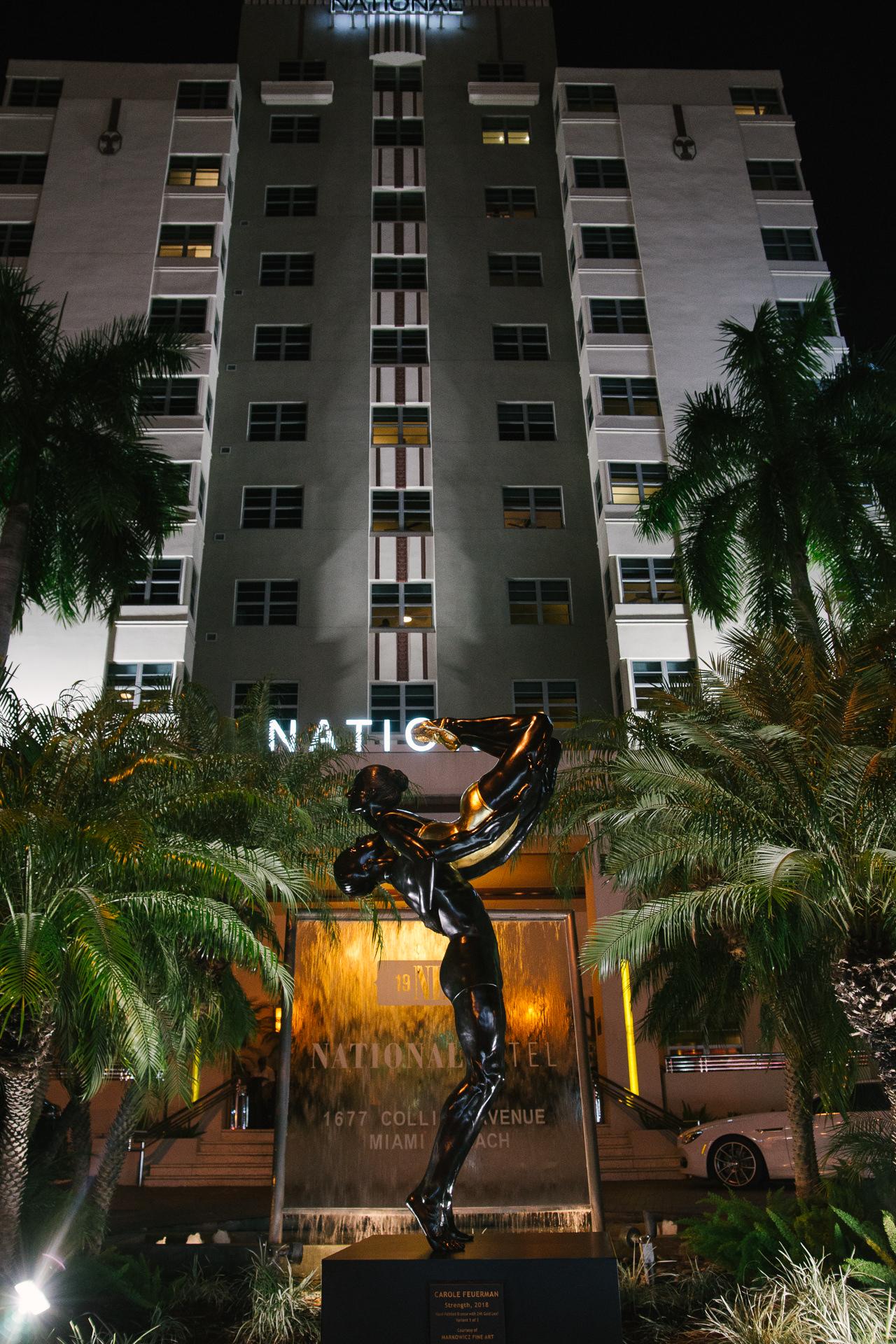"""Strength, 2017, Bronze, National Hotel, Miami, FL, 144"""" x 48"""" x 48"""""""