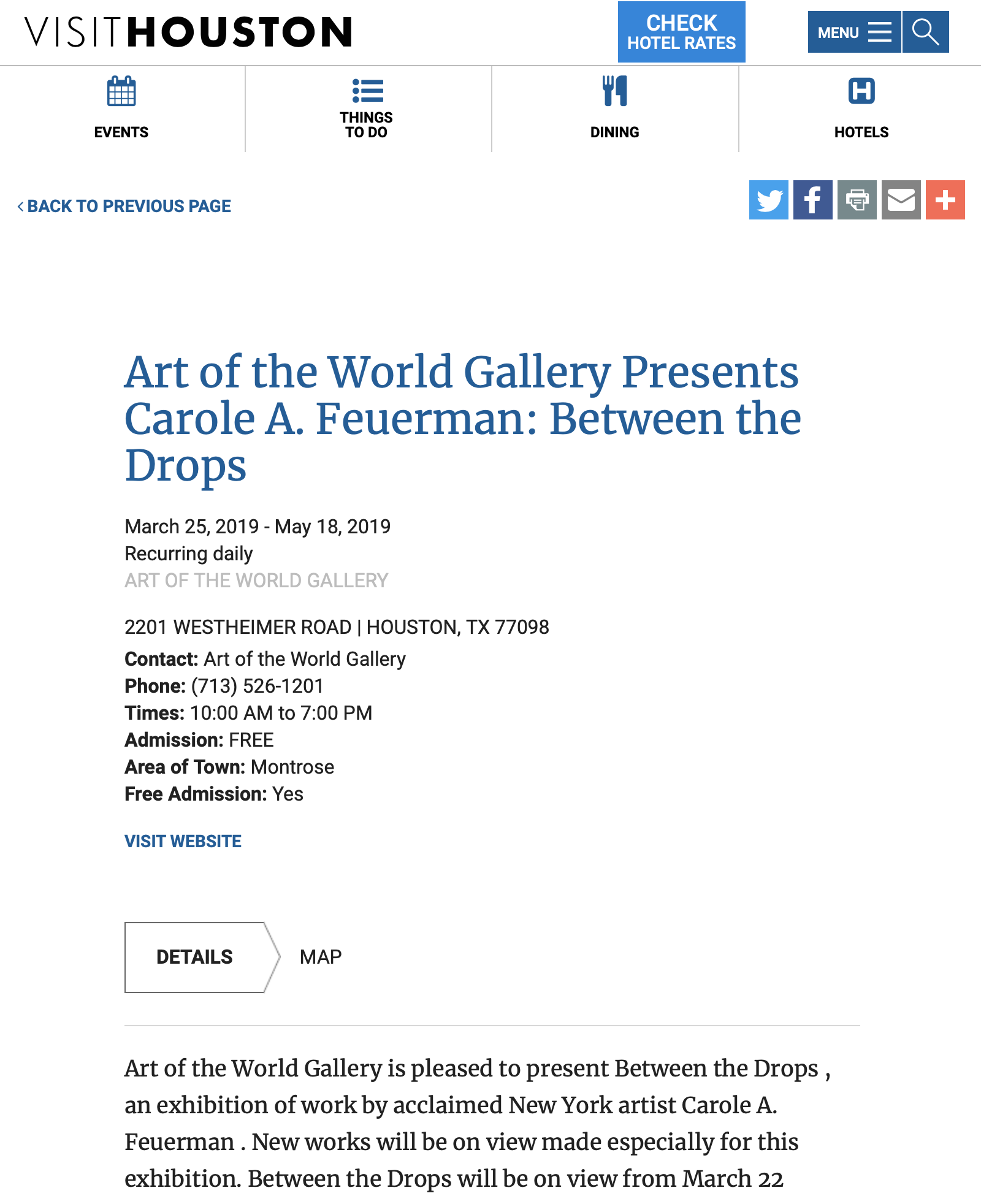 Art of the World Gallery Presents Carole A. Feuerman: Between the Drops