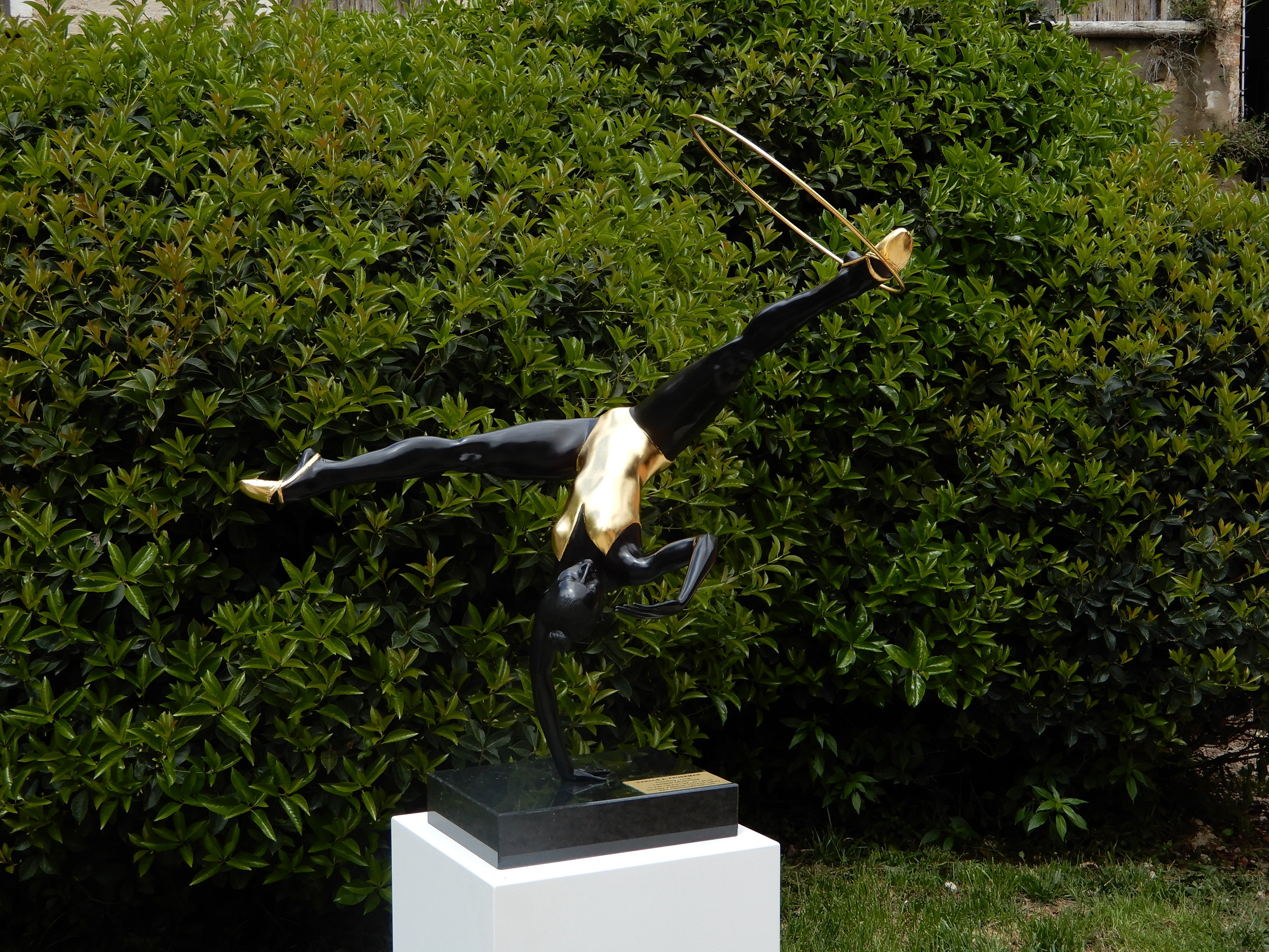 The Infinite Dance , 2015, Hand-Patinated Bronze with Stainless Steel, Dimensions (inches): 41 H x 20 W x 39 D