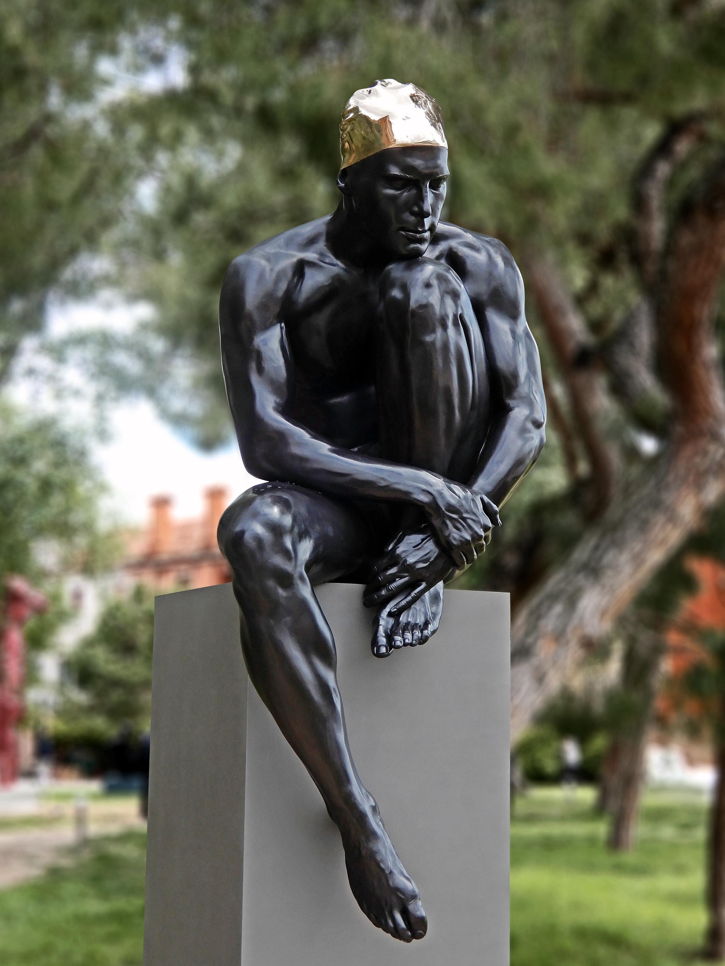 The Thinker, 2019, Bronze, Giardini Marineressa, Venice IT, 71 in x 32 in x 32 in