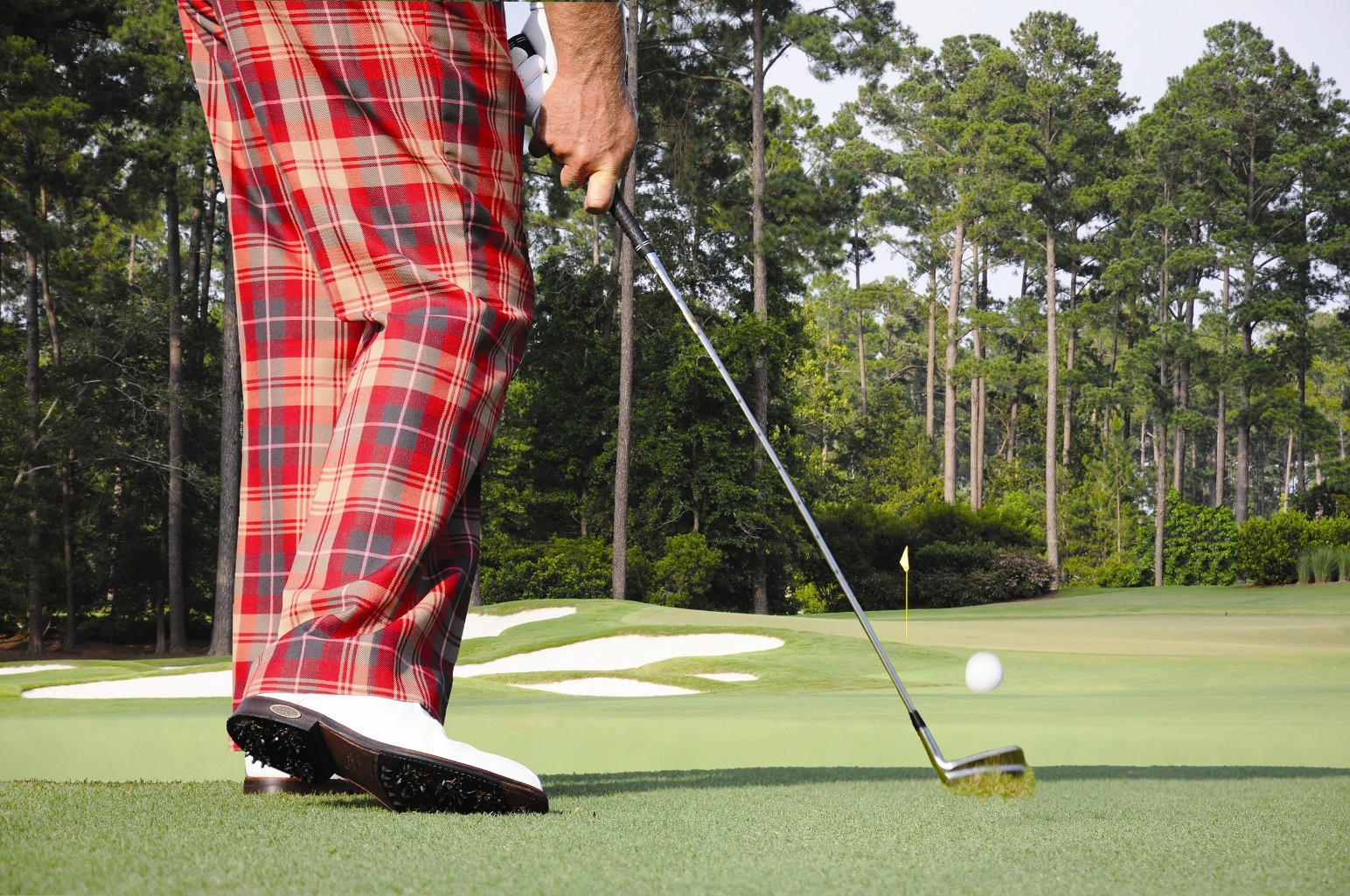 Correct Foot Action through Impact for a control type shot
