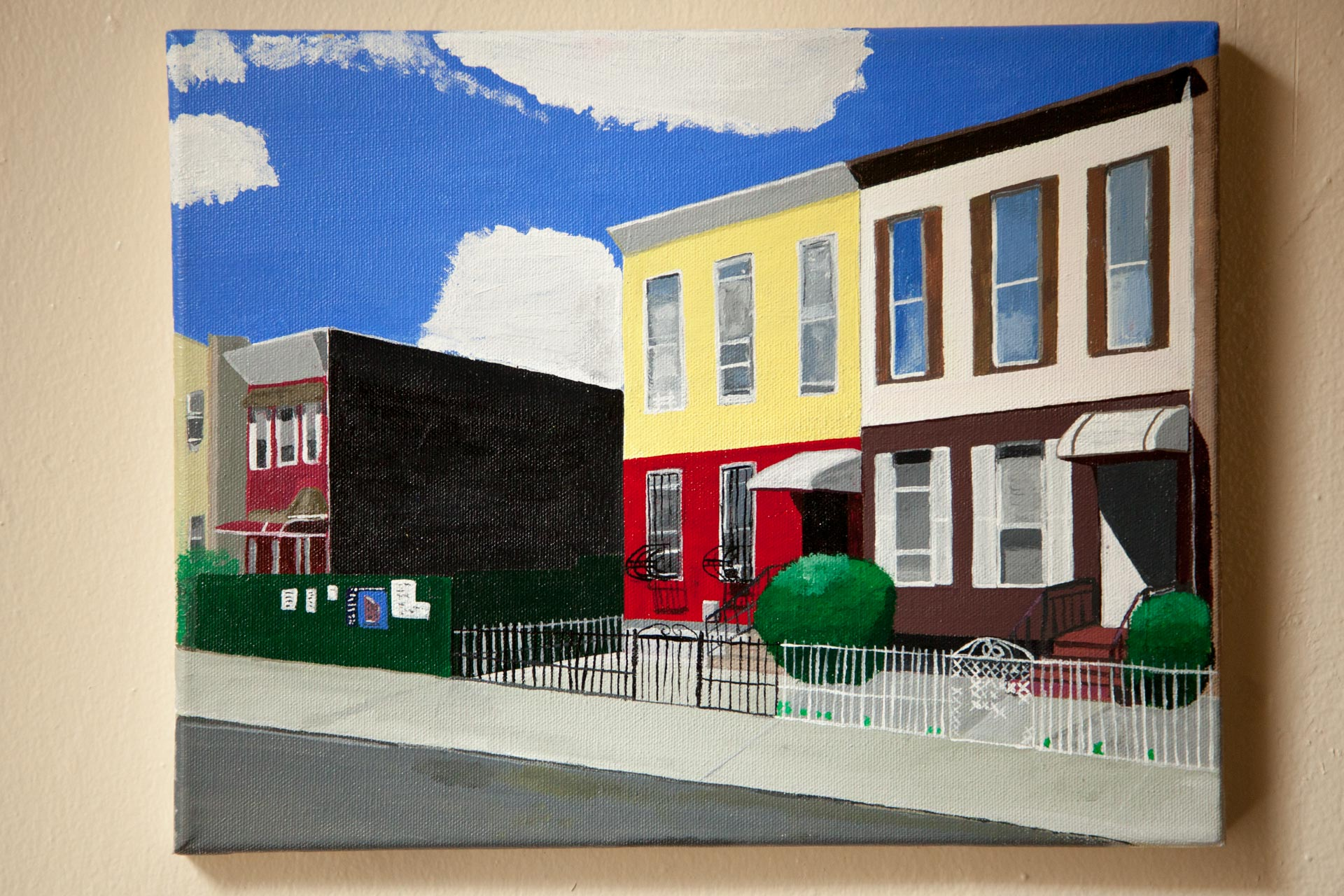 "Kossuth St., Acrylic on Canvas, 11""x14"", 2017"