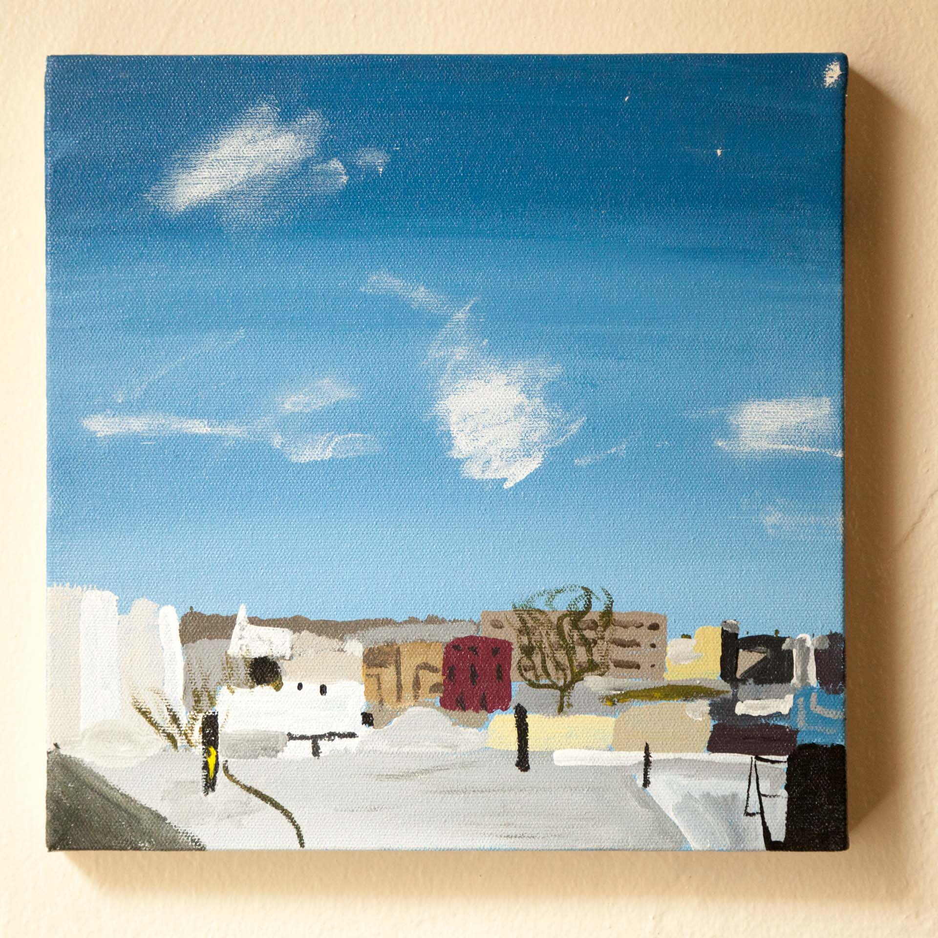 Rooftop View, Ditmars St., Acrylic on Canvas, 2015