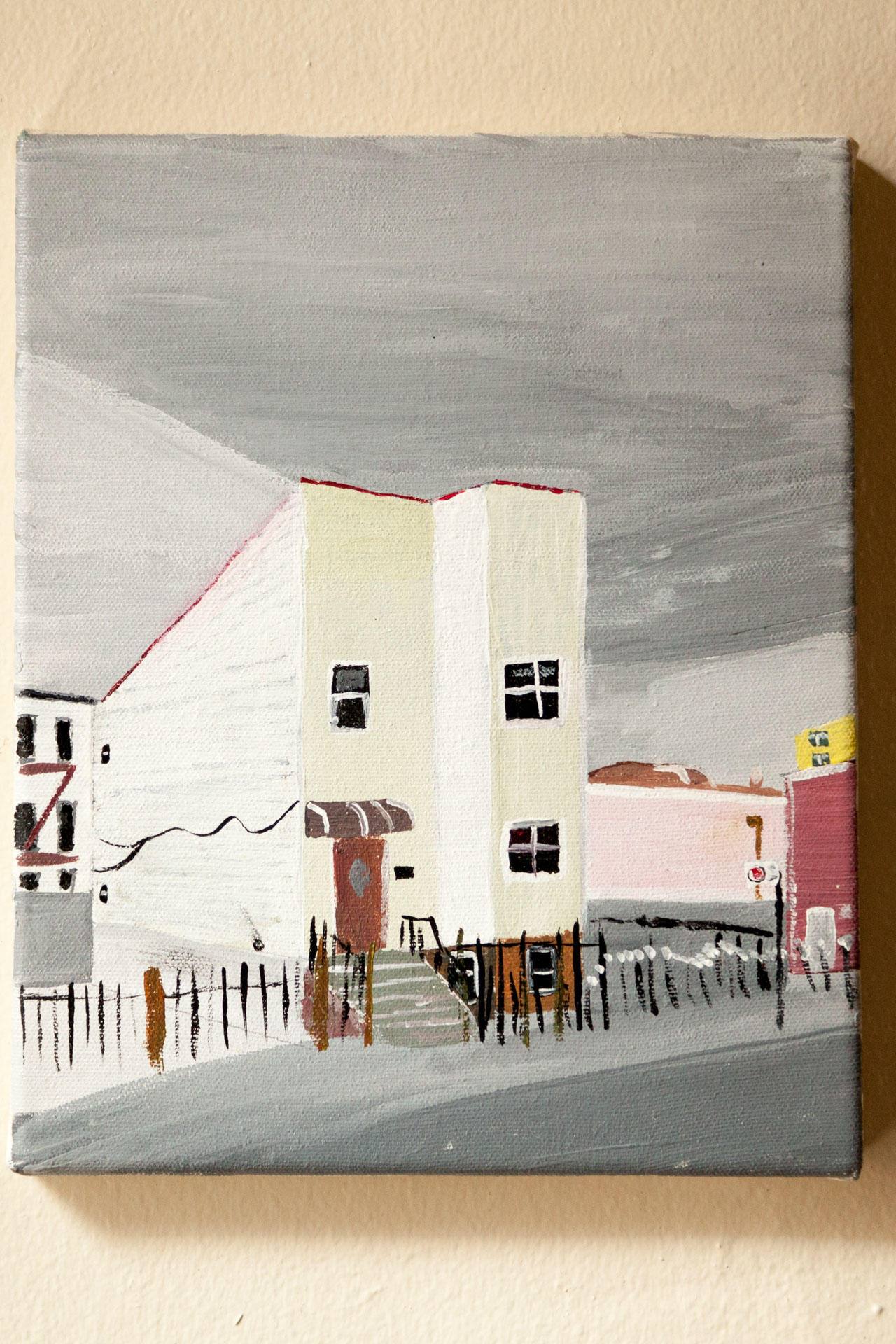 "Menahan St., Acrylic on Canvas, 8""x10"", 2015"