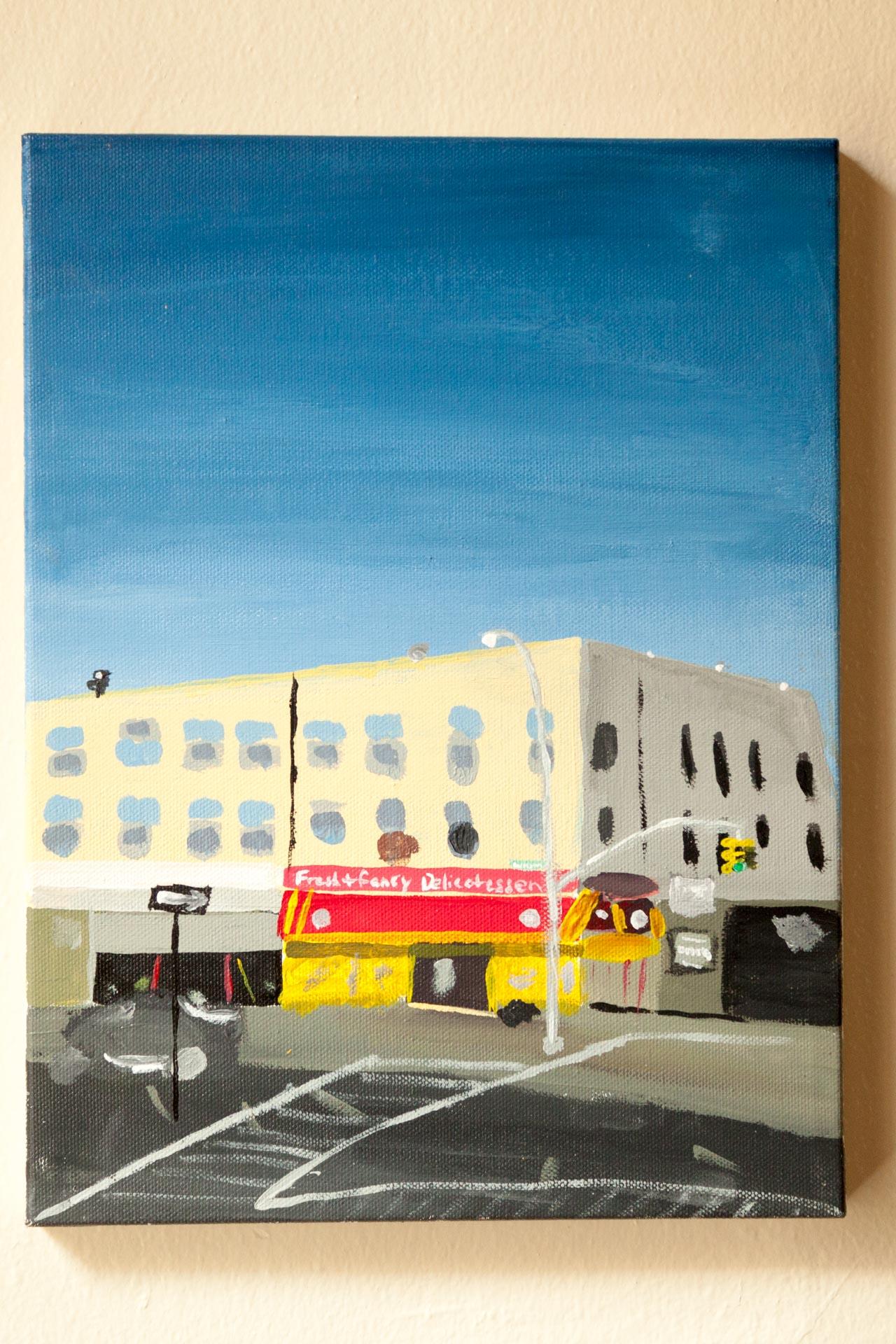 "Fresh & Fancy Deli, Starr St., Acrylic on Canvas, 8""x10"", 2015"