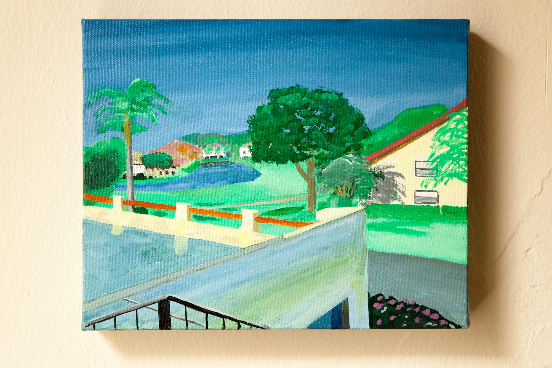 "November Morning in Venice, Florida, Acrylic on Canvas, 8""x10"", 2015"