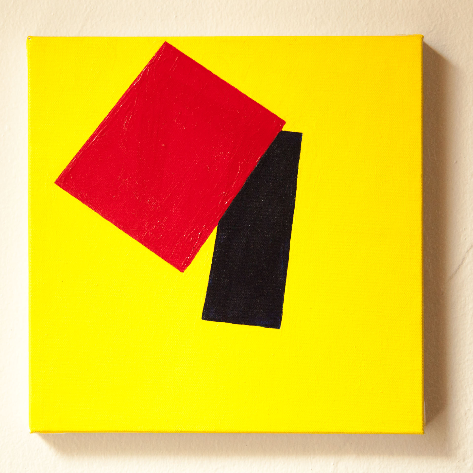 "Untitled, Abstract #3 (Ohio St. vs Michigan) Acrylic on Canvas, 10""x10"", 2015"