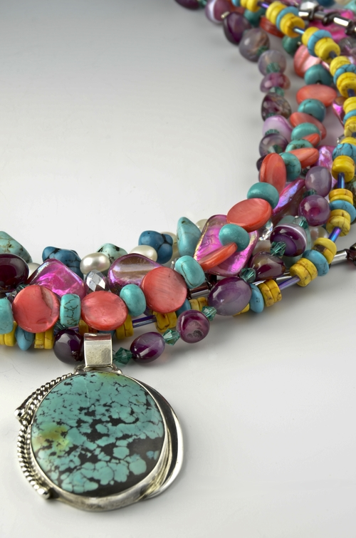 The jewelry is handcrafted by Kathy King and her daughter, Lindsay.