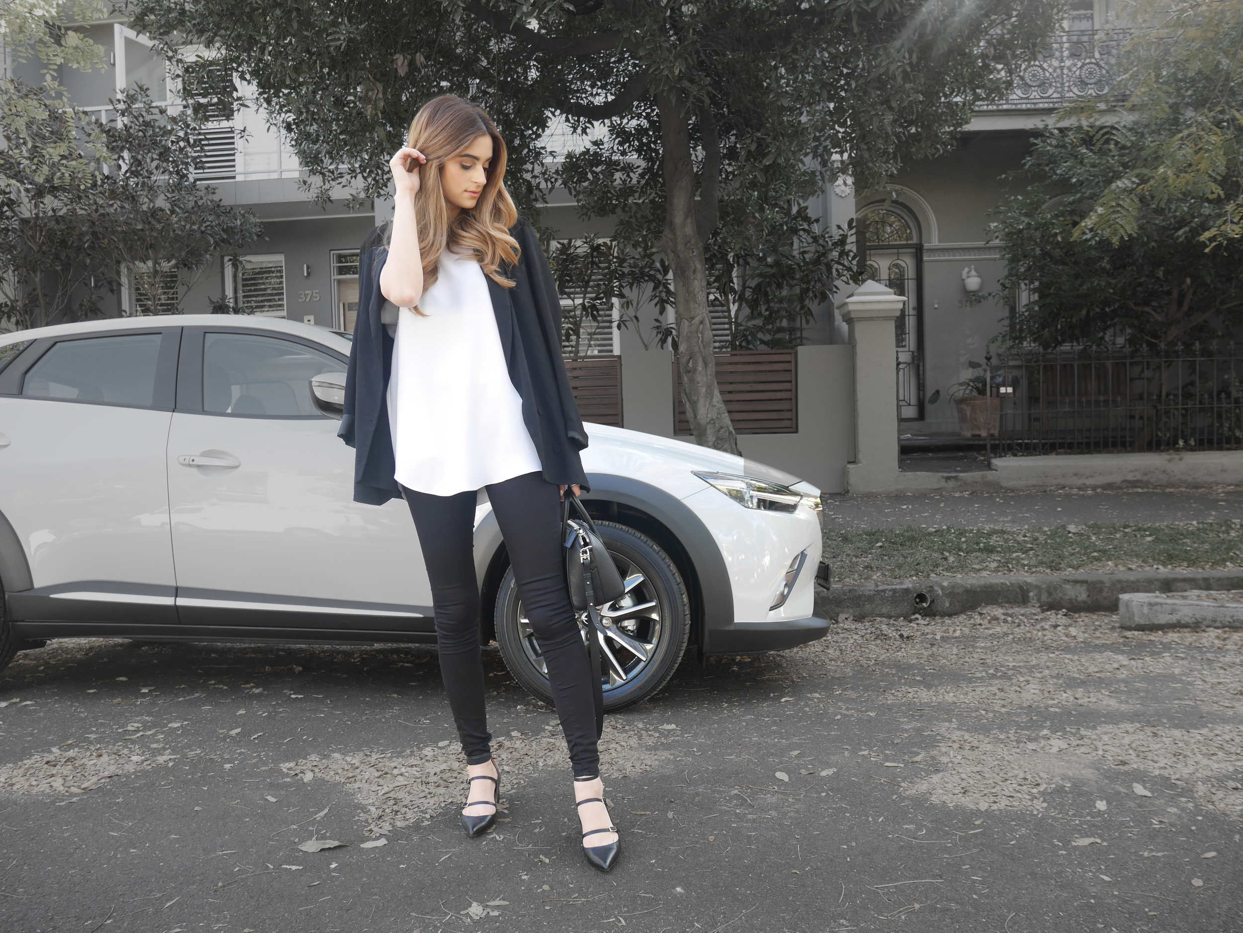 Wearing Ellery, Zimmermann and Topshop for a day of errands in the Mazda CX3