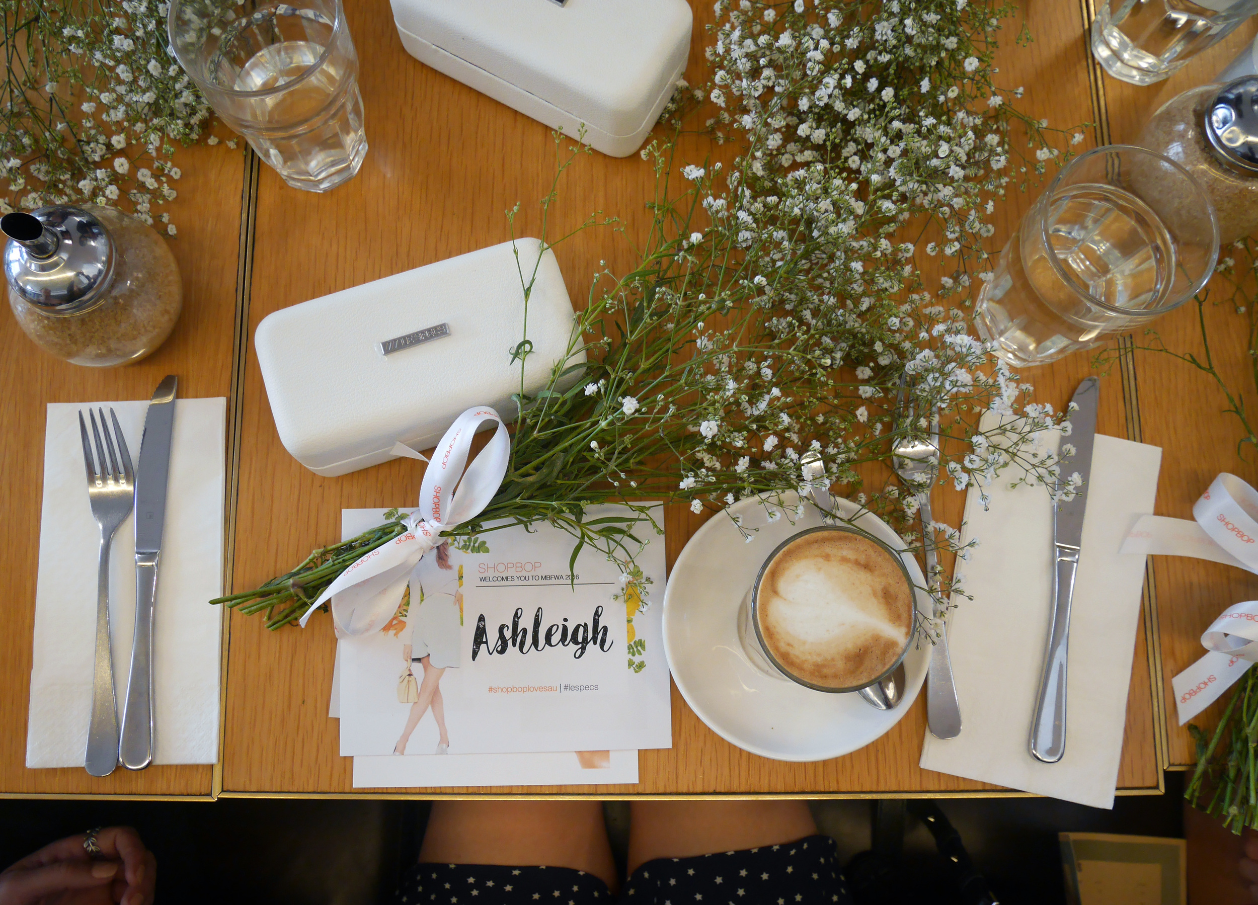 Kicking off MBFWA with brunch with team Shopbop