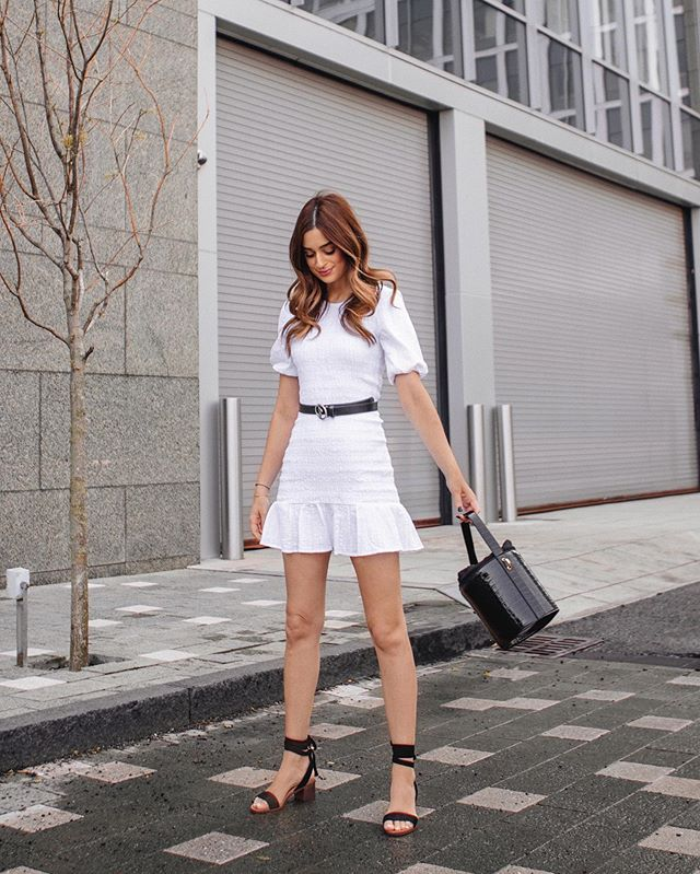 Loves black, but is partial to a cute white Spring dress too 😜✌🏼 @Lulus #SpringStyle #LoveLulus #LulusAmbassador
