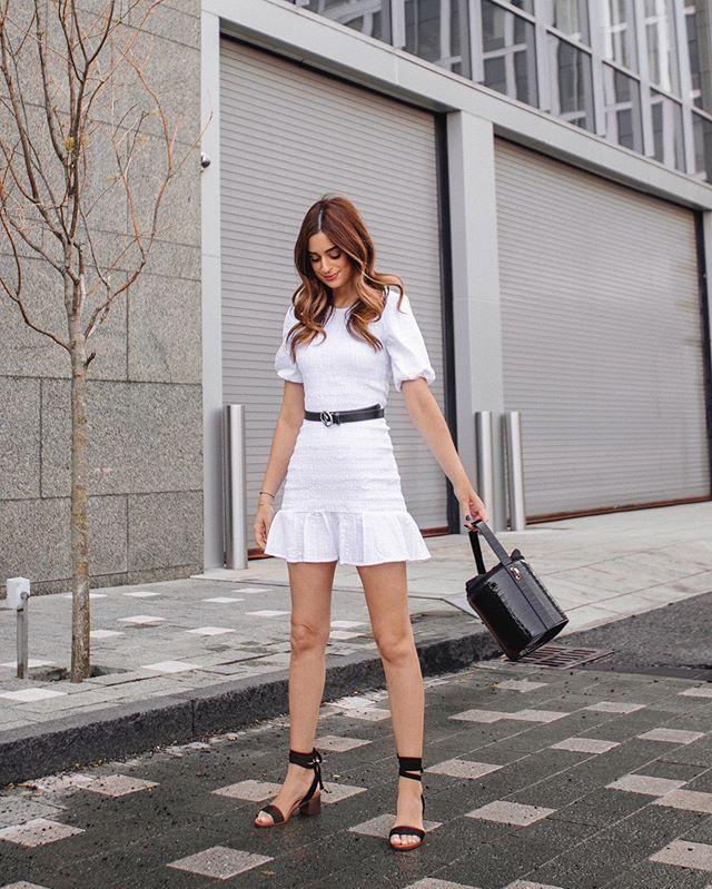 Loves black, but is partial to a cute white Spring dress too 😜✌🏼 @Lulus #SpringStyle #LoveLulus #LulusAmbassador