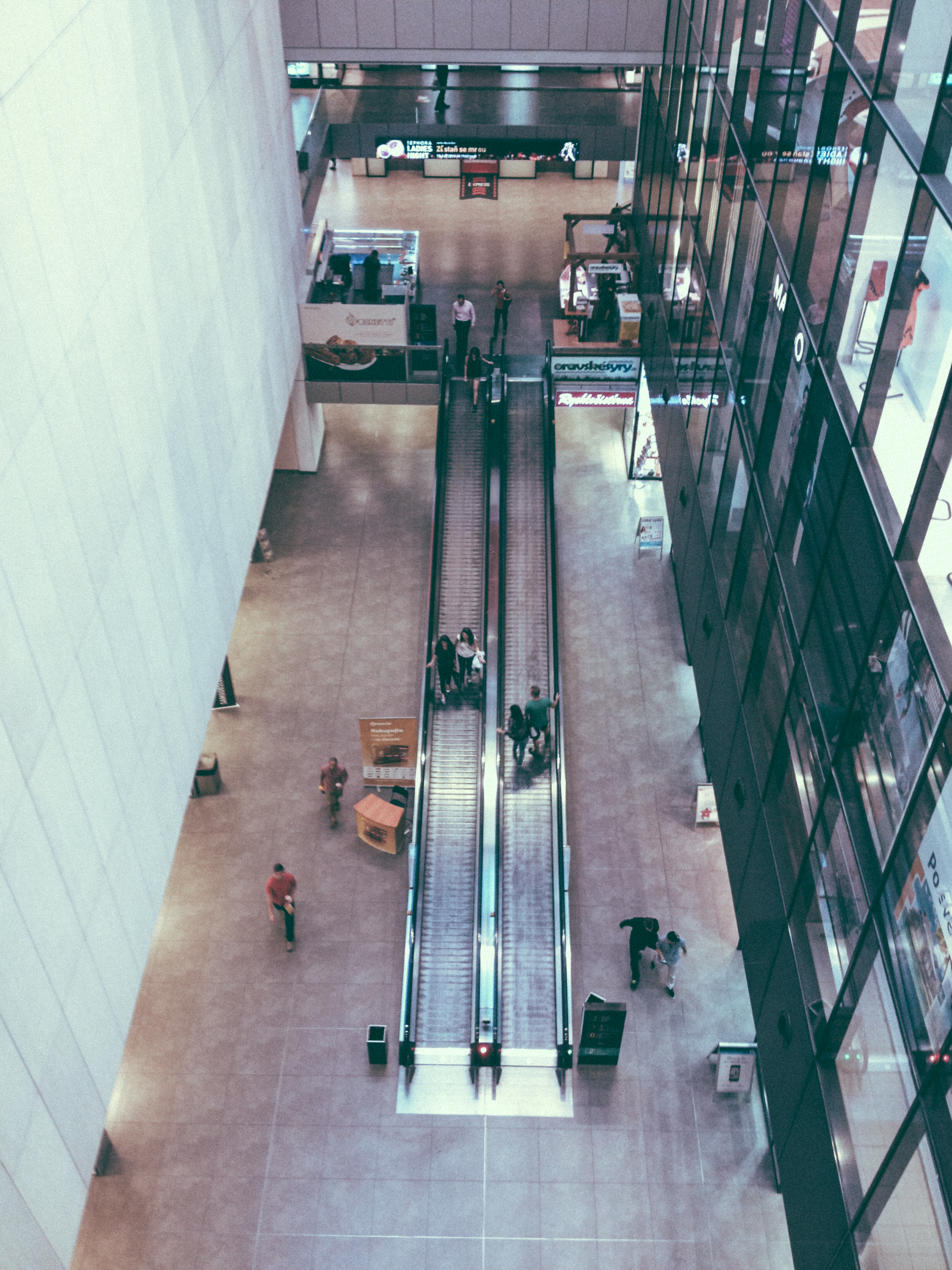 Arial view from one of the upper floors at the mall.
