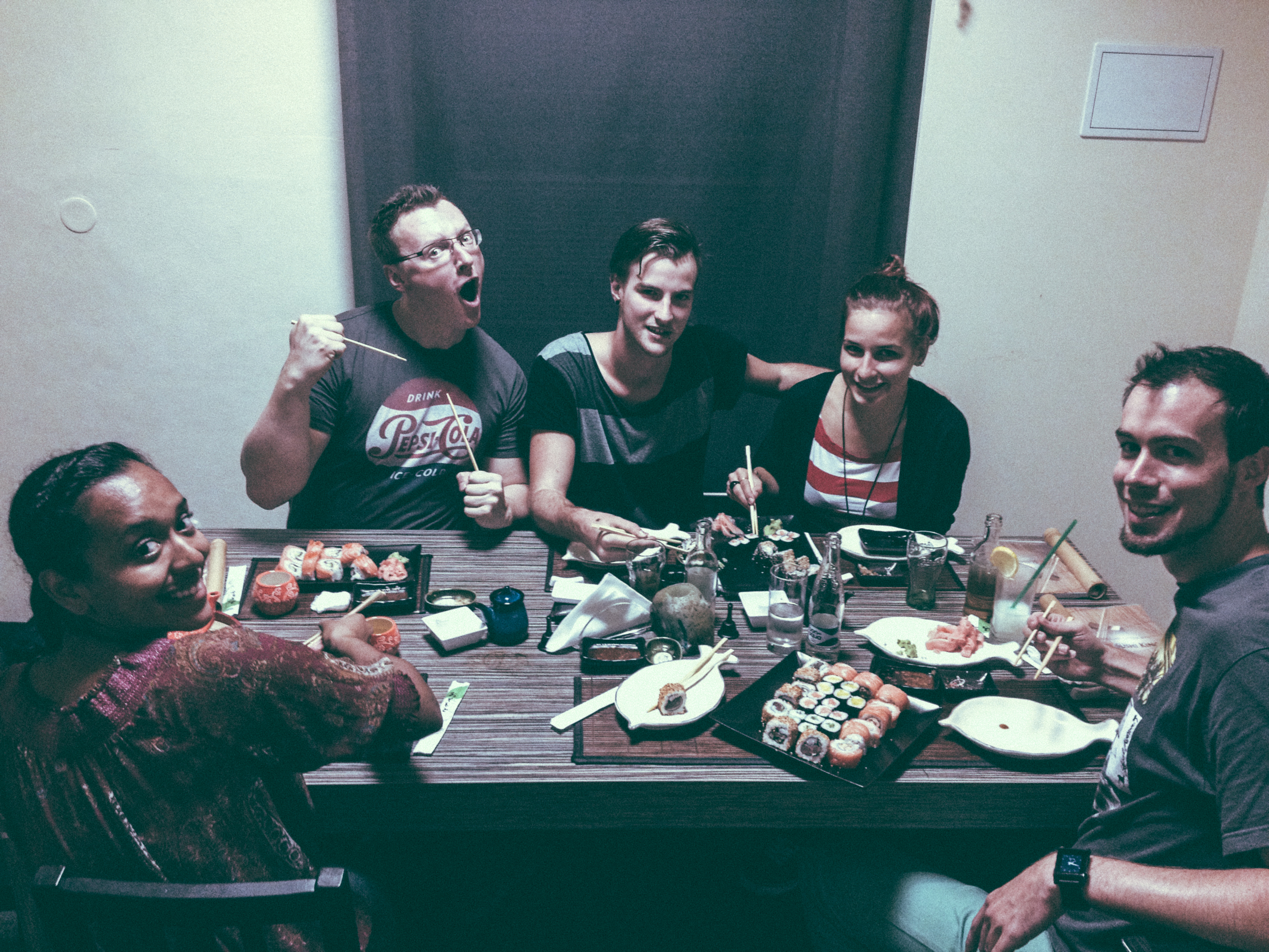 Friends and Sushi.