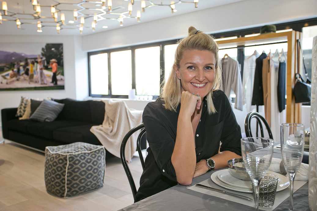 Leading personal stylist and digital style editor Claire Fabb (Style By Yellow Button) in Yellow Button HOME at Westfield Bondi