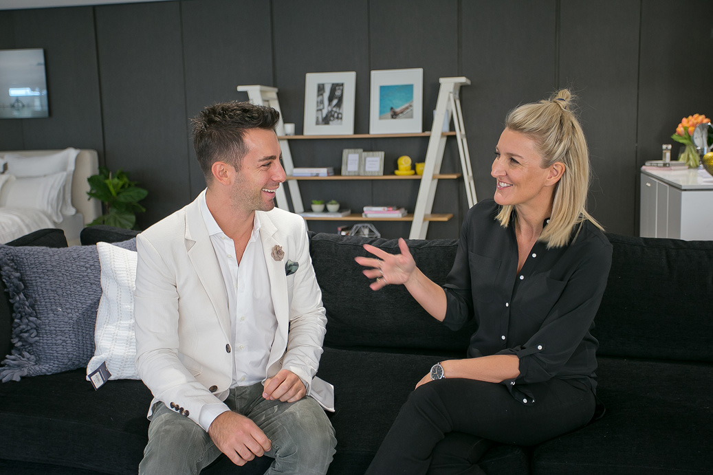 Belle Magazine's Style Director-At-Large Steve Cordony and Claire Fabb in the Yellow Button Home