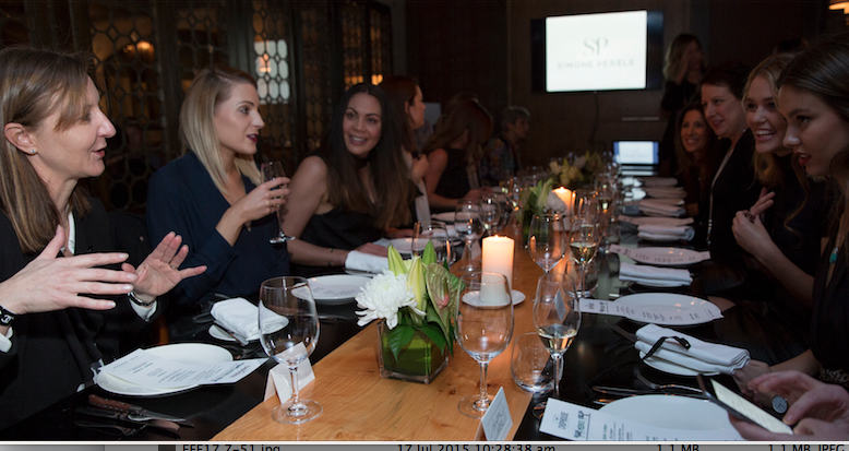 The private dining room was filled with guests from Perth's corporate, fashion, media (traditional and social) and property industries