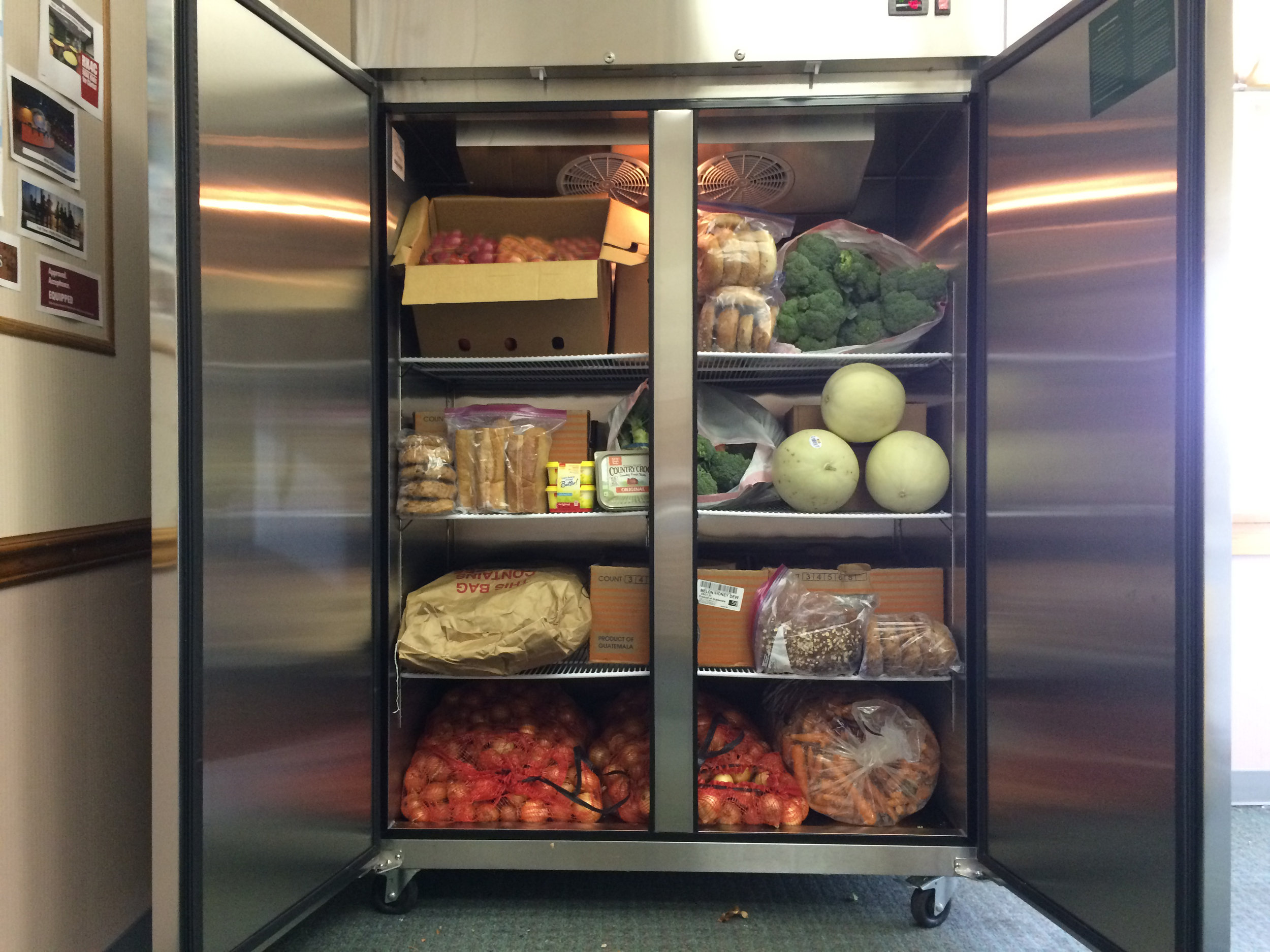 The South Jersey Dream Center received a $1,000 mini grant from the United Way of Gloucester County to purchase a commercial refrigerator.