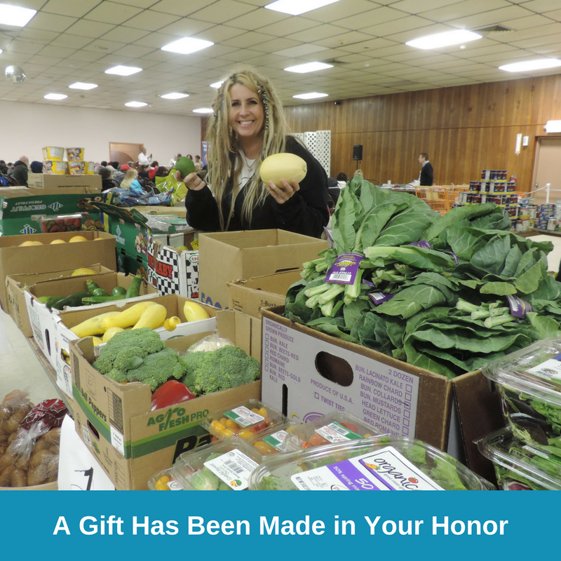 E-Card Four - A Gift Has Been Made in Your Honor - Groceries