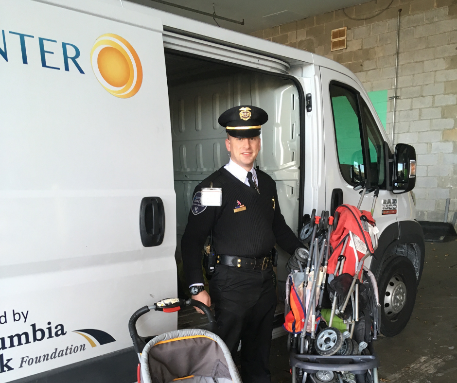 STROLLERS GALORE  - January - The Quakerbridge Mall in Princeton joins our list of Lost & Found partners. Thank you for the strollers! The Deptford Mall Macy's has been a longtime support too.
