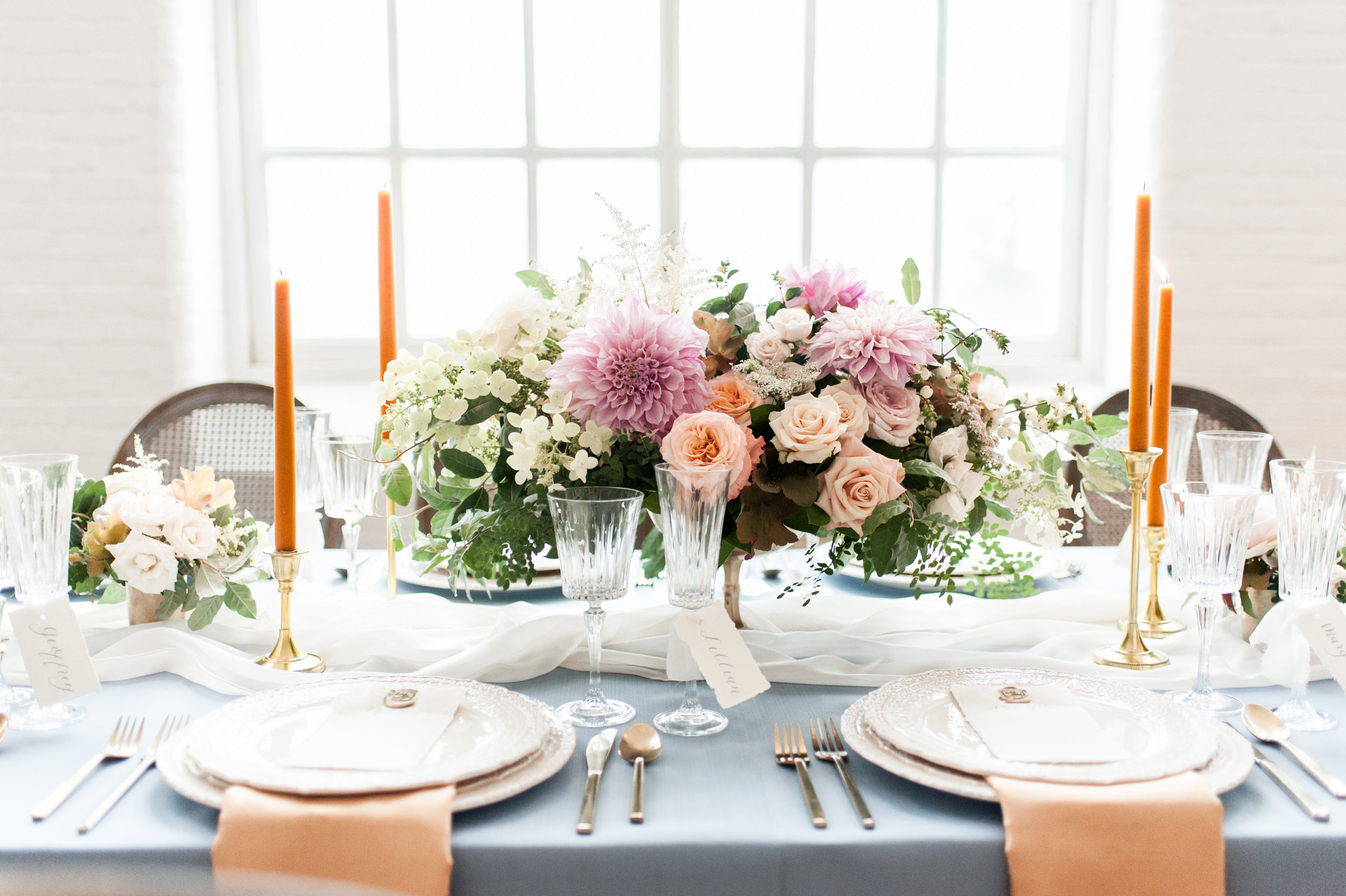 Styling by Urban Soiree Boston, Rentals by PEAK, Linens by BBJ Linen, Florals by Berry Branch Designs