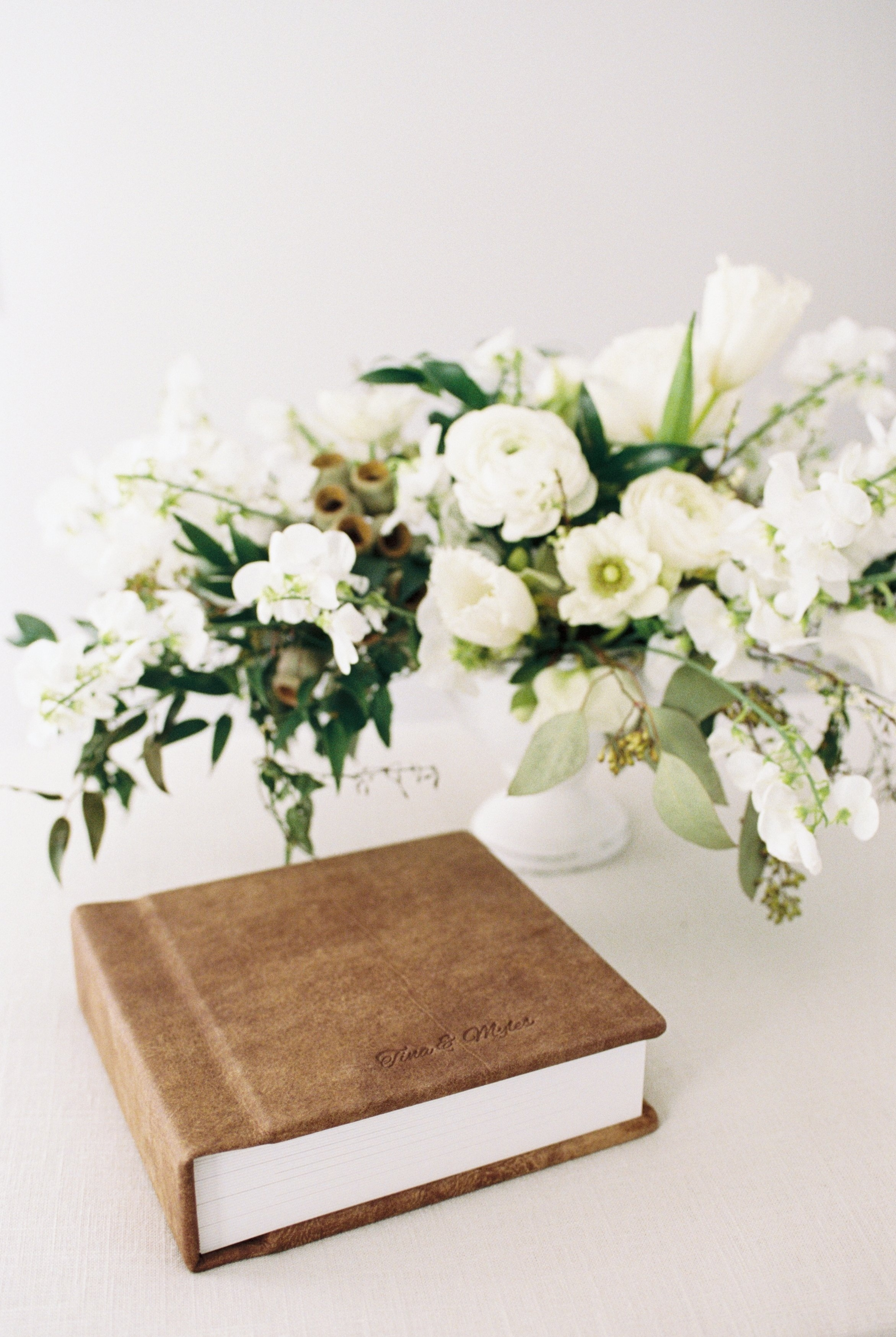 archival wedding albums in leather or linen wedding day heirloom